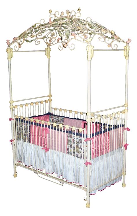 Aurora Iron Canopy Crib Baby Cribs With Canopy