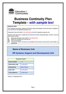 continuity template business continuity plan management template with sle