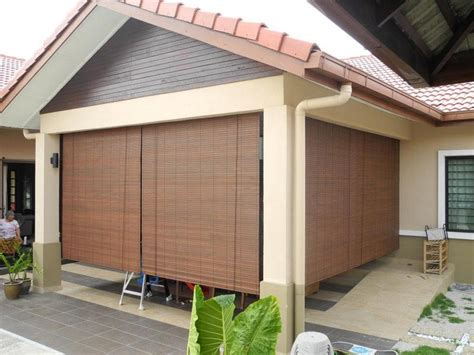 Wooden Patio Blinds by Nine Six Design Sdn Bhd Outdoor Blinds