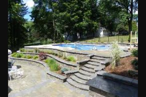 Backyard Pools With Retaining Walls Inground Pool On Slope Bc Apparently We Need A Retaining