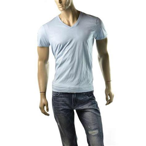 armani exchange t shirt mens v neck a x solid shirts