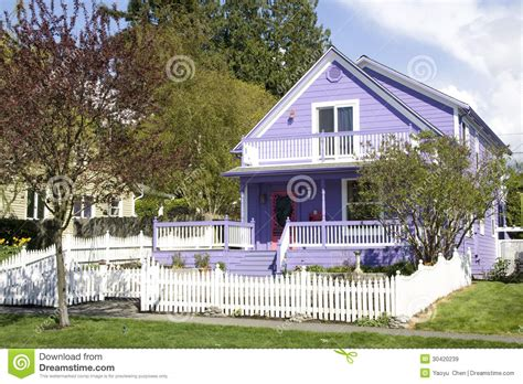 Pool Shed Plans Beautiful Purple House Royalty Free Stock Images Image