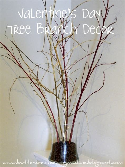 tree branch home decor buttercream and a sewing machine tutorial quick v day