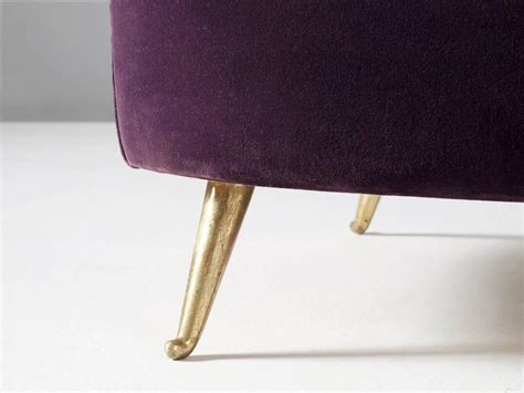 purple velvet sofa for sale andrea busiri vici purple velvet sofa for sale at 1stdibs