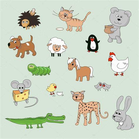 Imagenes Animales Varios | conjunto de varios dibujos animados animales y aves