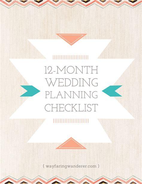 6 12 month wedding checklist paradochart