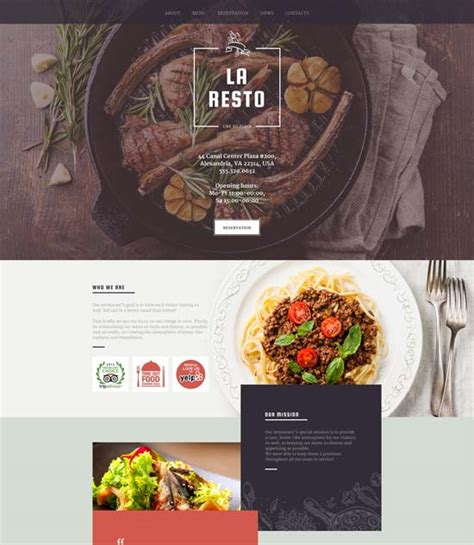 Cafe Templates by 130 Best Restaurant Cafe Website Templates Free Premium