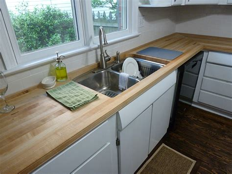 Safest Kitchen Countertops Maple Edge Grain Countertops Southside Woodshop
