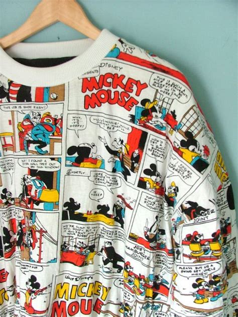 Sweatshirt Micky Mouse Comic 80s vintage mickey mouse sweatshirt jumper by