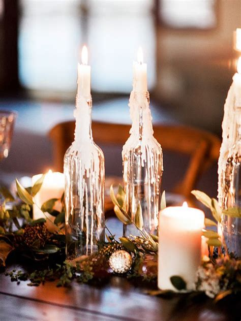 winter table decorations amazing wedding table decoration with flowers and candles