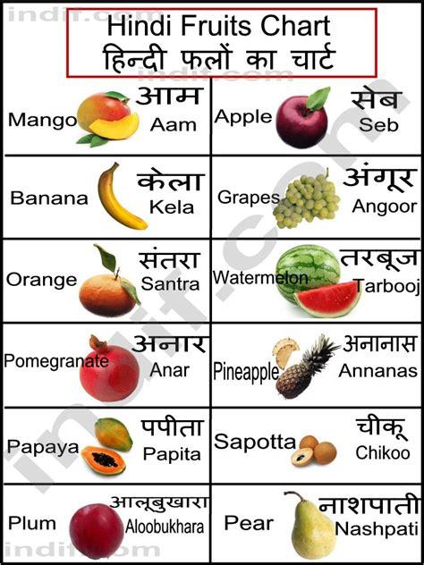 hindi fruits chart ह न द फल क च र ट basic fruits