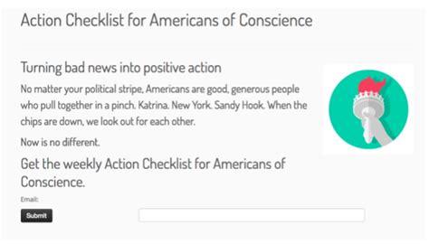 americans  conscience checklist