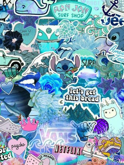 vsco girl wallpaper blue imagem de fundo  iphone