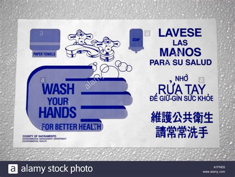 bathroom in other languages wash your hands sign in a bathroom showing different