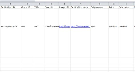 Feed Template travel feed template my excel templates