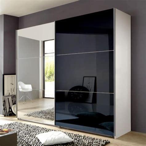 schlafzimmerschrank mit spiegel 270cm h 236cm schlafzimmerschrank glas schwarz wei 223
