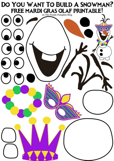 How Do You Make A Mask Out Of Paper - do you want to build a snowman mardi gras olaf edition