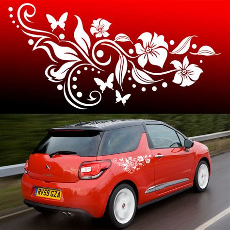 butterfly flower vinyl car graphics stickers decals