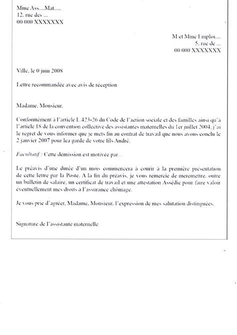 Exemple De Lettre Fin D Emploi Modele De Lettre Rupture Contrat Nounou Contrat De Travail 2018