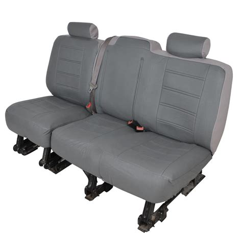 silverado bench seat charcoal gray pu leather bench seat covers for chevy