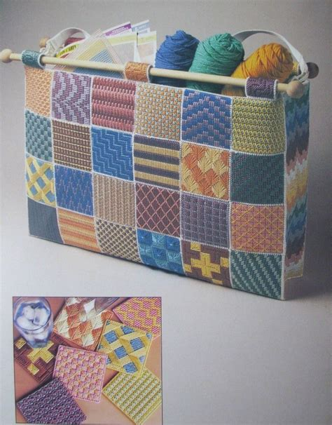 Tote Bag Pattern Books | sample stitches tote bag plastic canvas pattern book