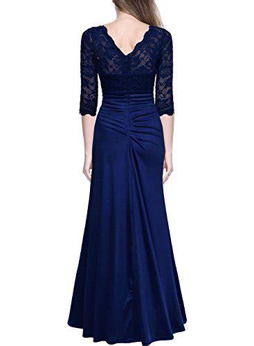 Maxi Shifa Blue Asli Dhabi miusol s retro floral lace vintage 2 3 sleeve slim ruched wedding maxi dress buy