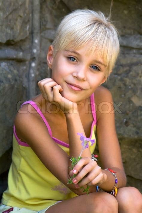Summer vacation, portrait of childhood   Stock Photo   Colourbox