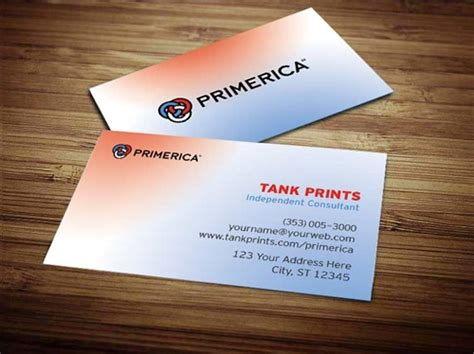 primerica business card template primerica business card design 3