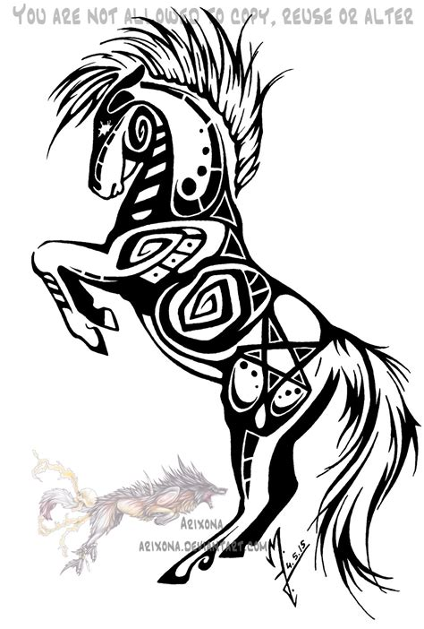 horse tribal tattoo rearing designs www imgkid the image
