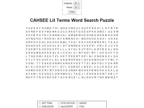 free printable word search literary terms literary terms worksheets free worksheets library