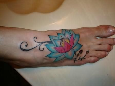lotus tattoo on the foot foot tattoos page 96