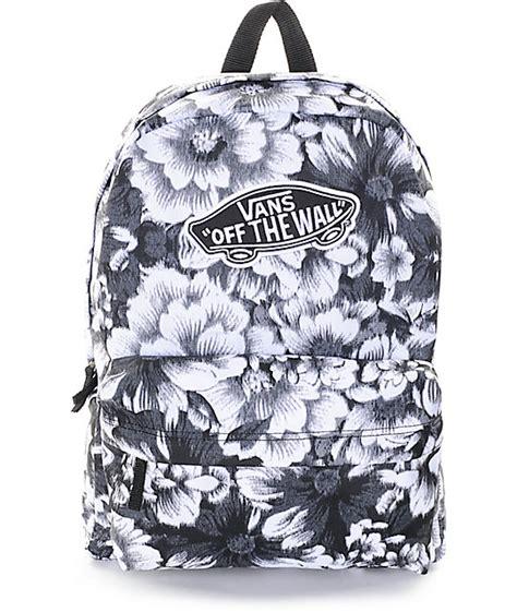 zaino vans fiori vans realm mono floral backpack zumiez