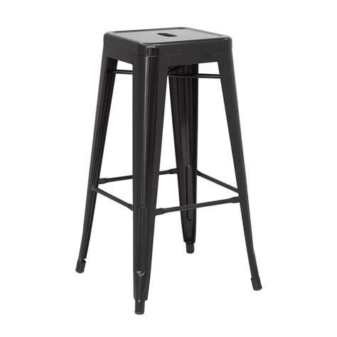 Modern Backless Counter Stools by Metro Backless Metal Black Counter Stool Eurway