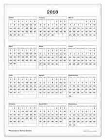 Calendario 2018 Colombia Para Imprimir Calendario 2018 Para Imprimir Quot Johannes D Quot