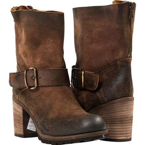 half boots donna brown quot cuoio quot suede half boots paolo shoes
