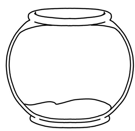 fish bowl template template of fish bowl clipart best