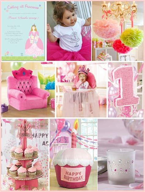 themes first birthday party baby girl pink princess first birthday party inspiration mosaic