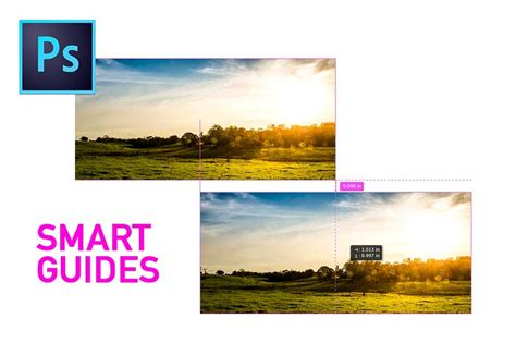 work with smart guides in photoshop adobe photoshop cc tutorials novidade photoshop cc smart guides photopro