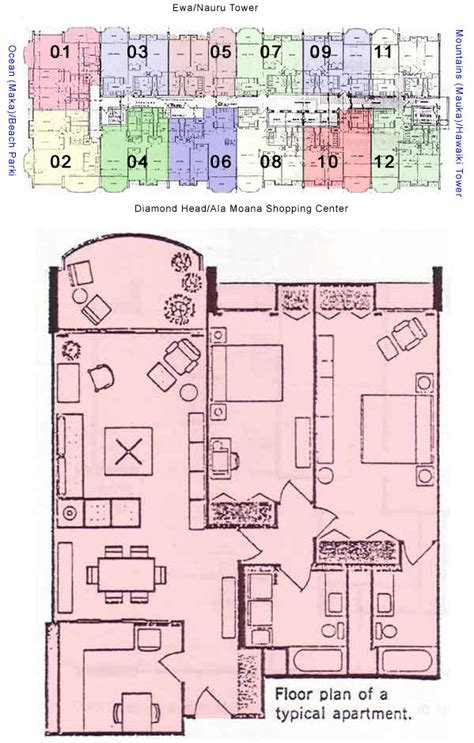 10 Park Blvd Floor Plan by 1350 Ala Moana Honolulu Hawaii Condo By Hicondos