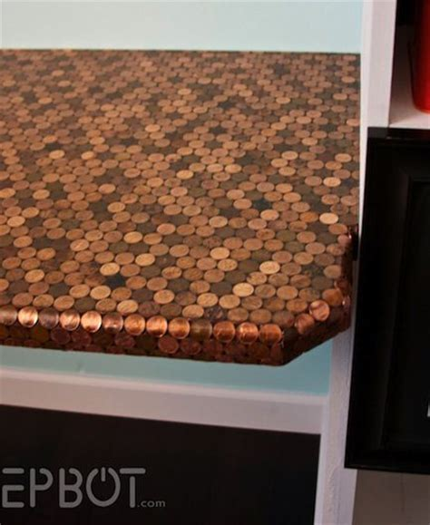 penny bar top penny projects so cool for a bar top i want for the