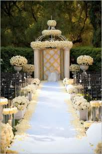wedding aisle decorations decoration