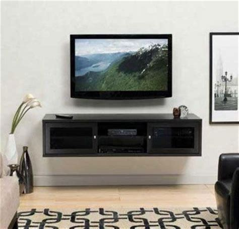 wall mounted tv with entertainment shelf home
