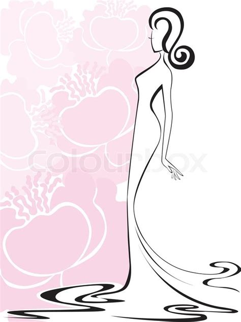Home Decoration Online Shop by Silhouette Of A Slender Woman In A Long Dress Against A