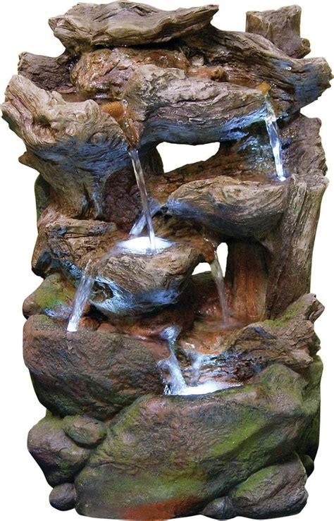 fiberglass rainforest waterfall fountain  led light