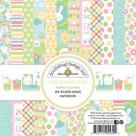 doodlebug easter collection doodlebug design easter express 6x6 paper pad
