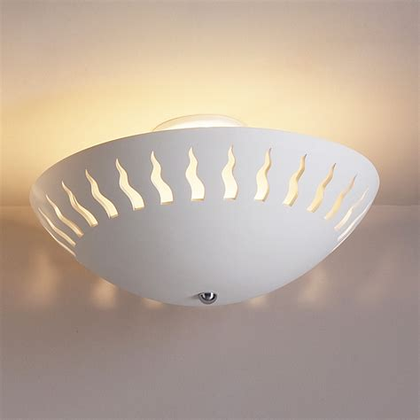 18 quot flames ceramic ceiling light