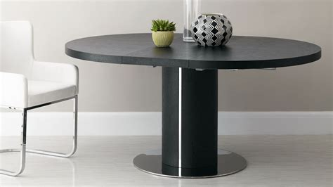 black ash extending dining table pedestal base uk