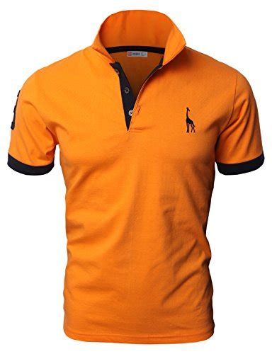 h2h mens casual slim fit polo t shirts basic designed with