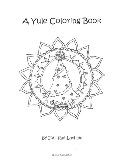 Winter Solstice Coloring Pages Pagan Yule Coloring Pages Sketch Coloring Page