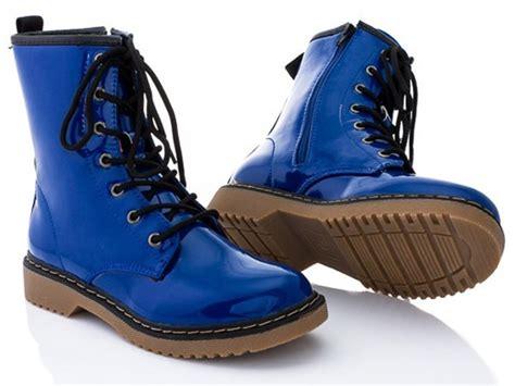 blue combat boots rasolli combat boots blue patent